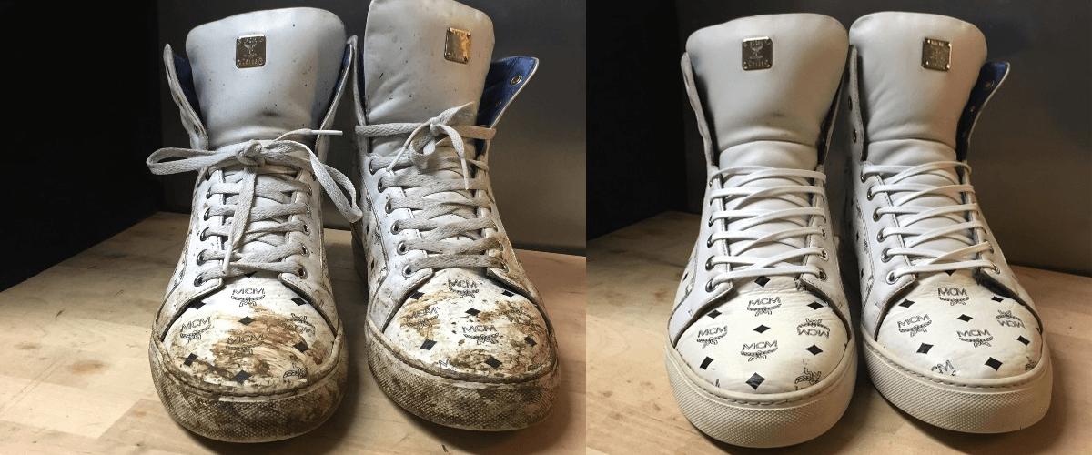 Schoenen reinigen voor en na